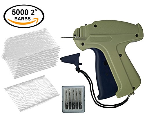 """GILLRAJ Milan Clothes Tagging Gun with 5000 2"""" Standard Tags Attachments and 6 Needles Clothing Retail Price Tag Gun Kit for Boutique Store Warehouse Consignment Garage Yard Sale"""
