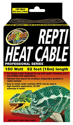 Zoo Med Reptile Heat Cable 150 Watts, 52-Feet by Zoo Med
