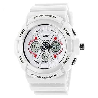 8c78c658f Skmei Sports Digital Chronograph Analog-Digital White Dial Men s Watch ( WHITE)