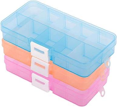 10 cuadrícula de transparencia piezas Caja Multi función de la ...