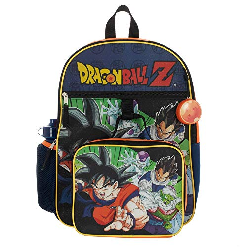 Kids Dragon Ball Z Backpack Set 5-Piece School Supplies Combo (Dragon Ball Z Toys 6 Pack)