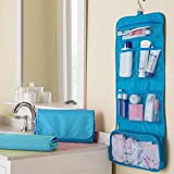 Compra Travelmall Travel Organizer Toiletry Bag Cosmetic Bag Pouch Handbag for Women Makeup Men Shaving Kit with Hook Hanging Blue en Usame