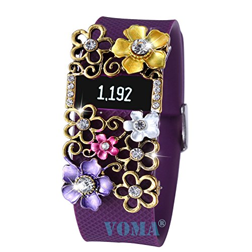 VOMA Fitbit Bling Jewelry Accessory For Fitbit Charge/Fitbit Charge HR(blivt-ppgd)
