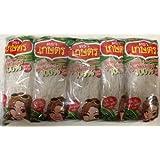 Kaset Brand Thai Bean Thread Glass Noodles -14 Oz (1.4 oz x 10 Sachets)