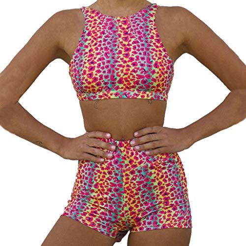 Sport Sets for Women, Summer Sports Suit Ladies 3D Printed Fashion Vest + Causal Fitness Short Training Pants Yoga Legging Suit Training Set Sweatpants - Training Activewear
