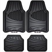 Custom Accessories Black Armor All 78840ZN 4-Piece Season Rubber Floor Mat