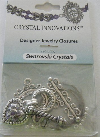 Swarovski Toggle - Swarovski Blue Heart/Swirl Toggle Bracelet Kit (2)