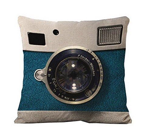 Blue Camera Lens 3D Pattern Home Decorative Photographer (Carpet Insert)