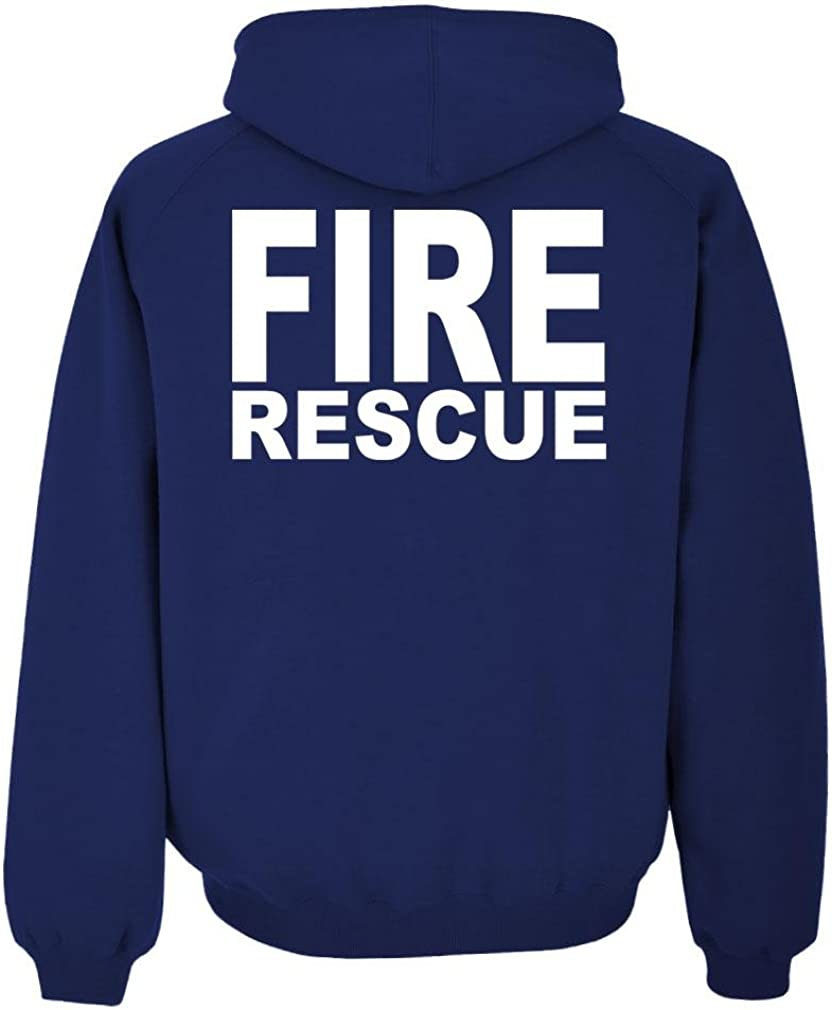 Duty Mens Pullover Hoodie HI VIS Reflective The Goozler FIRE Rescue