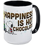 CafePress - Peanuts Hot Chocolate Mugs - Coffee Mug, Large 15 oz. White Coffee Cup