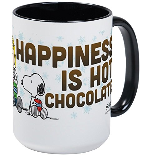 CafePress Peanuts Hot Chocolate Mugs Coffee Mug, Large 15 oz. White Coffee Cup
