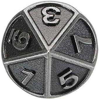 Multisided Dice Schwermetall Polyhedral Dice Set mit Tasche SUCAN Embossed Steel 7-tlg