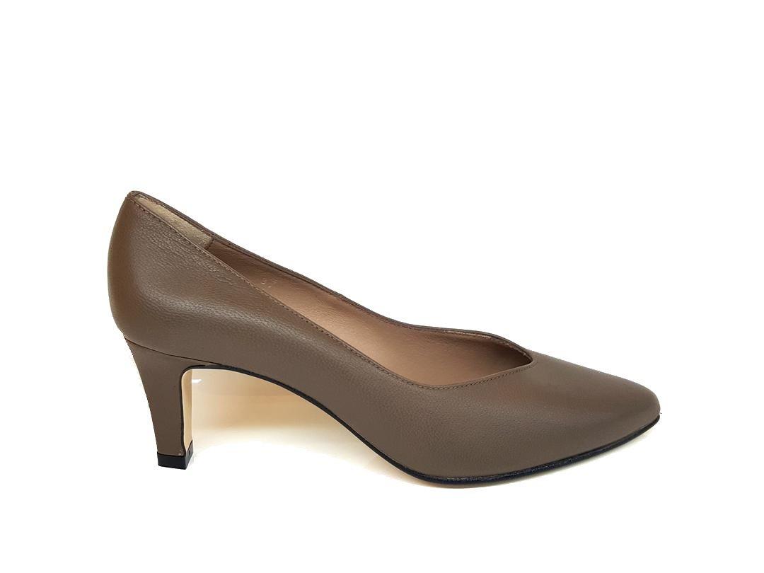 Gennia ISORBO - Zapatos de Piel para Mujer con Tacón 6 cm + Punta Fina Cerrada 39 EU,Piel Napa