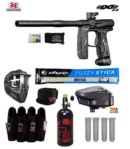 MAddog Empire Axe 2.0 Tournament Elite Paintball Gun Package B - Dust Black