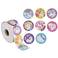Unicorn Stickers - 1000-Count Unicorn Decal Stickers, 8 Cute Designs, Unicorn Party Supplies, 1.5 Inch Diameter Round Labels