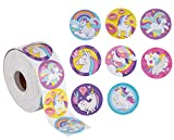 Unicorn Stickers – 1000-Count Unicorn Decal Stickers, 8 Cute Designs, Unicorn Party Supplies, 1.5 Inch Diameter Round Labels