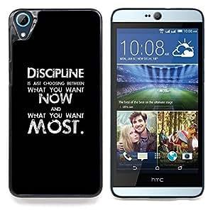 Eason Shop / Premium SLIM PC / Aliminium Casa Carcasa Funda Case Bandera Cover - Negro Texto inspirador mensaje - For HTC Desire 826