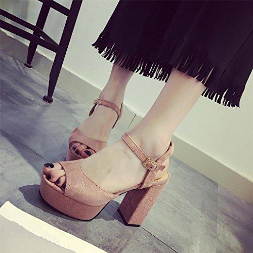 Sandali Con Zeppa Donna Inkach - Sandali Con Tacco Alto Moda Estate - Sandali Con Cinturino Alla Caviglia Rosa