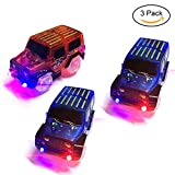 Toys : TSLIKANDO Car Track Replacement Toy Car (3 Pack) Glow in the Dark Racing Track Accessories Compatible with Most Tracks for Boys and Girls