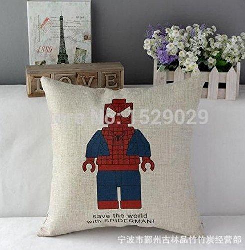 Super Heros Cartoon Pillow Cushion Cover Pillow Spiderman Figure