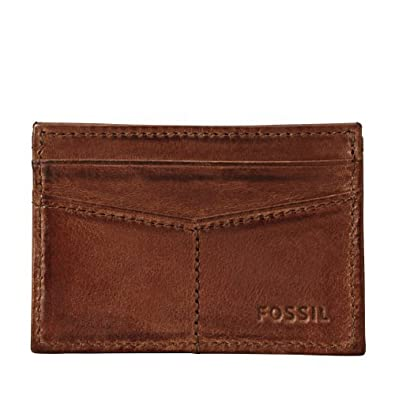 Genuine Fossil Brown Carson Credit Card Pocket Wallet Ml3215200