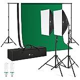 Photography Background Support System, Houzetek Soft Box Photography Lighting Kit 700W 5500K Continuous Lighting System Photo Studio