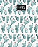 "Notes: Cactus with Flower Journal, size 8"" x 10"" , Ruled Journal With Cute Journal Design (Cute College Journal) (Volume 2)"