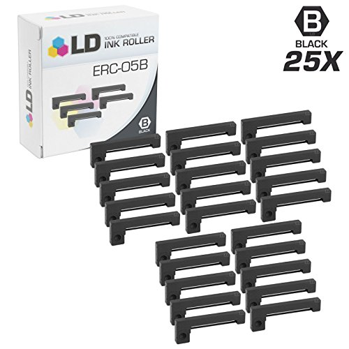 LD Compatible Epson ERC-05B Set of 25 Black Printer Ribbon Cartridges for C. Itoh 150, DPN-150, DPN-190, DPN-234, EC-7000, ERC-05, HOH 150, M&S Taxi Meter, Norand NP-20 & Radio Shack PC1, PC2 (C Itoh Printer Ribbon)