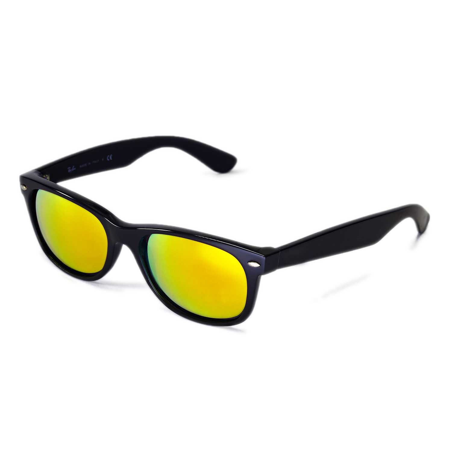 39edf2fdf2 Amazon.com  Walleva Replacement Lenses for Ray-Ban Wayfarer 2132 55mm-9  Options Available (24K Gold Mirror Coated - Polarized)  Clothing