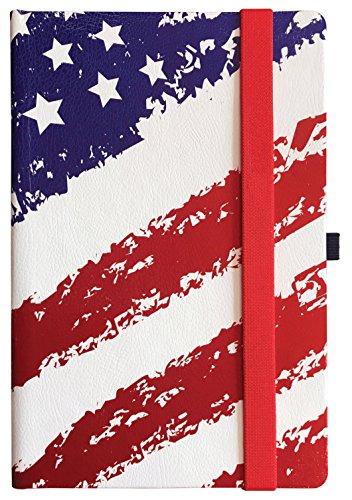 Cherrynote Large Ruled Hard Cover Notebook - Landmark American Flag ()