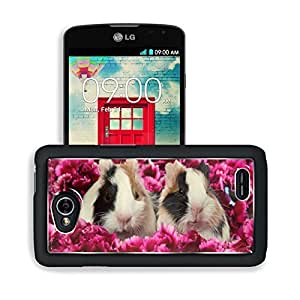 Animals Guinea Pigs Lovers Flowers LG Optimus L70 Dual D325 Snap Cover Premium Aluminium Design Back Plate Case Open Ports Customized Made to Order Support Ready 5 2/16 Inch (130mm) X 2 12/16 Inch (70mm) X 11/16 Inch (17mm) MSD L70 Professional Cases Acce