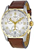 Victorinox Swiss Army Men's Quartz Stainless Steel and Leather Dress Watch, Color:Brown (Model: 241510)