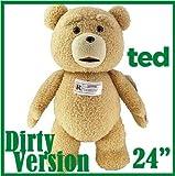 【正規品】 TED テッド 映画 超レア ぬいぐるみ R版-Rated 24インチ 電池交換可能 60センチ 実物大 テディベア [輸入品]