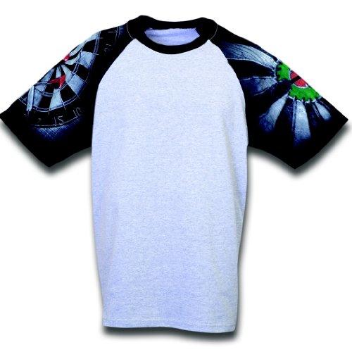 PI Sportswear Darts Designer T-Shirt from Everyday Life (Large, Ash/Black) -