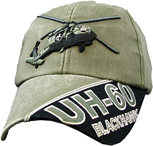 Blackhawk UH-60 Helicopter OD Embroidered Military Baseball Cap