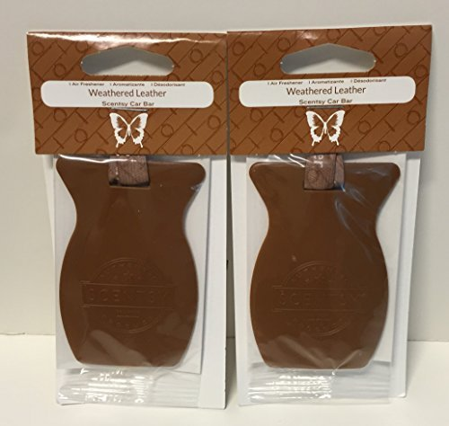 Scentsy 2pk Weathered Leather Car Bar Air Freshener