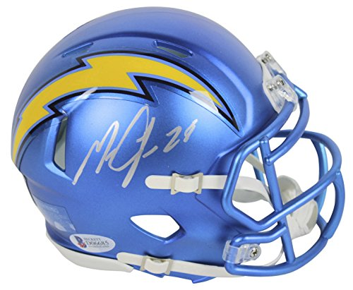 Chargers Melvin Gordon Authentic Signed Blaze Mini Helmet Signed In Silver BAS
