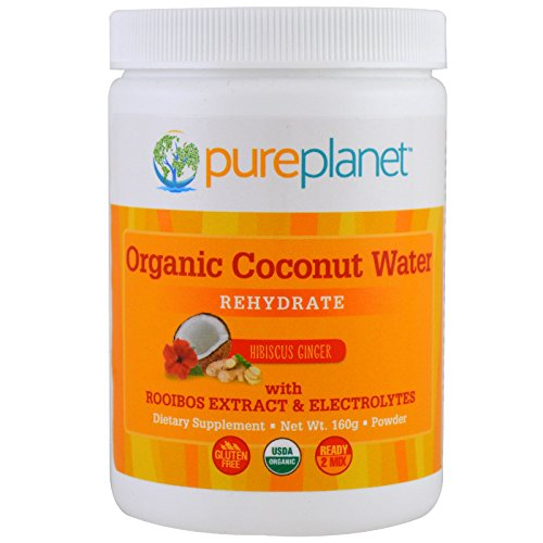 Pure Planet Organic Coconut Water Rehydrate Hibiscus Ginger 160 g