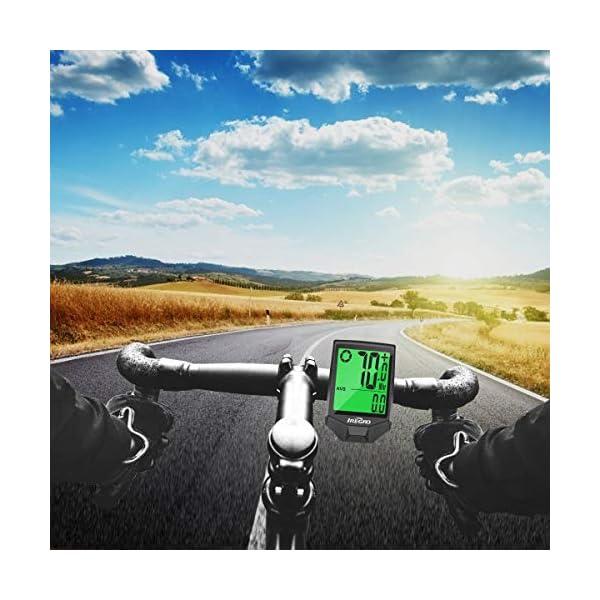 IREGRO Computer da Bicicletta, Grande Display Digitale LCD Contachilometri Bici Impermeabile Computer per Bici, 18… 6 spesavip