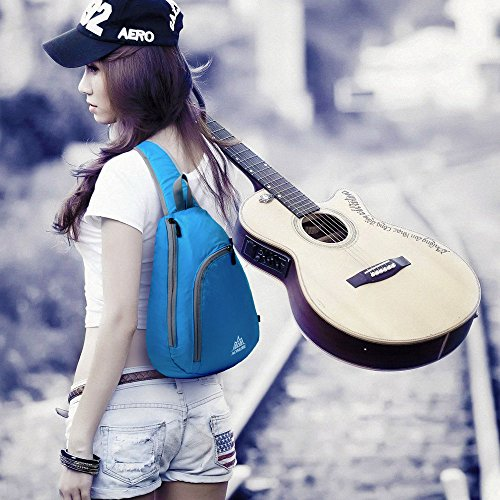 For Travel Women Bookbag Men Sport Chest Hiking Packable Sling Shoulder Cover Bicycle Crossbody Backpack Blue Camping Bag Pack Rucksack Docooler 46qUfxvwx