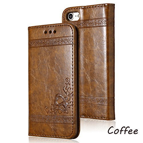 Leather Flip Phone Magnetic Case For iPhone X 6 6S 7 8 Plus 5 5S SE For Samsung Galaxy S6 S7 Edge S8 Plus Retro Card Slot Phone Cover