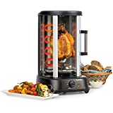 Klarstein Kebab Master Pro Vertical Rotisserie • Kabob-Grill • Kabob Skewer • Rotating Oven • Timer • Max 1500W • Up to 464°F • 22 qt • Stainless Steel • for shawarma, kebob, turkey or fish • Black