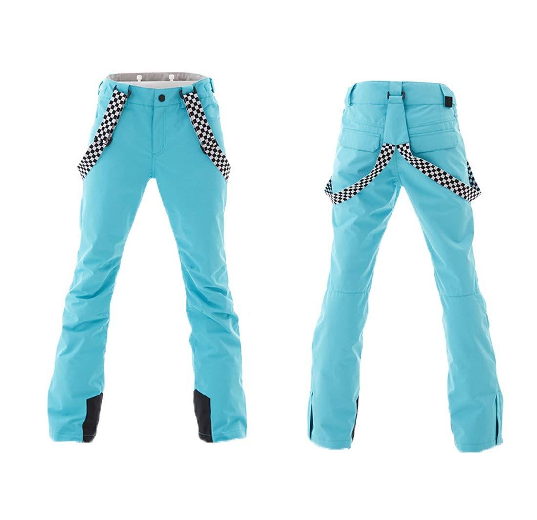 Colore : Rosa, Size : XS HONGHUIKE Tuta da Sci delle Donne di Mount Sci Giacche e Pantaloni Impermeabili del Vestito Antivento della Neve for Snowborad Outdoor Trekking