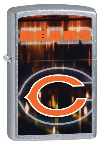 Personalized Zippo Lighter NFL Chicago Bears - Free Laser Engraving Nfl Chicago Bears Zippo Lighter