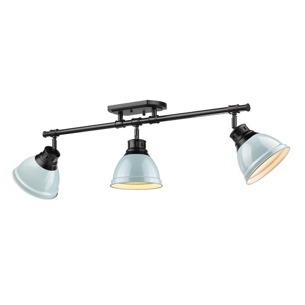 Golden Lighting 3602-3SF BLK-SF Three Track Light Black