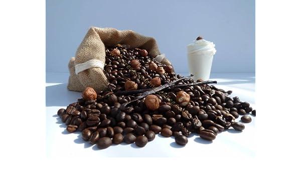 Cafe con sabor a crema de vainilla avellanada, Alubias, 100 g: Amazon.es: Hogar