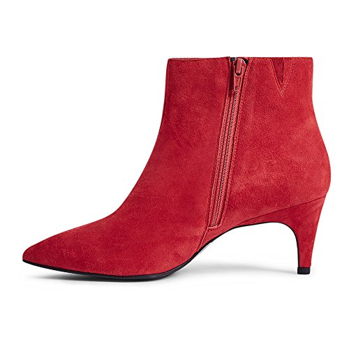 Marks & Spencer Damen Durchgängies Plateau Sandalen mit Keilabsatz Rotes Wildleder