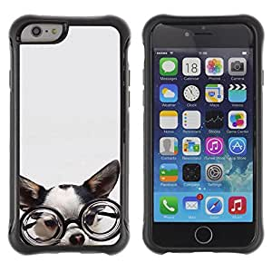 SHIMIN CAO@ Chihuahua Glasses Dog Puppy Smart Rugged Hybrid Armor Slim Protection Case Cover Shell For iphone 6 6S CASE Cover ,iphone 6 4.7 case,iphone 6 cover ,Cases for iphone 6S 4.7