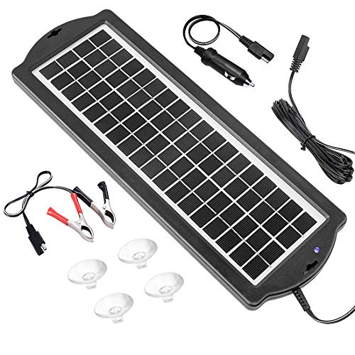 Price comparison product image Solar Battery Charger Car 3.5W 12V,  Solar Trickle Charger for Car Battery,  Portable and Waterproof Solar Battery Maintainer,  High conversion single crystal silicon Solar Panel car battery charger