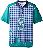 Seattle Mariners Polyester Short Sleeve Thematic Polo Shirt Large